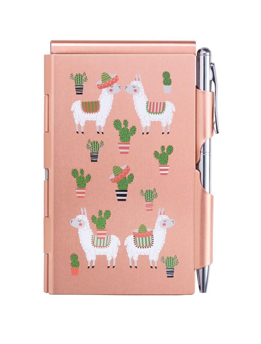 Color Design Options Wellspring Flip Note w// Pen Animal Print